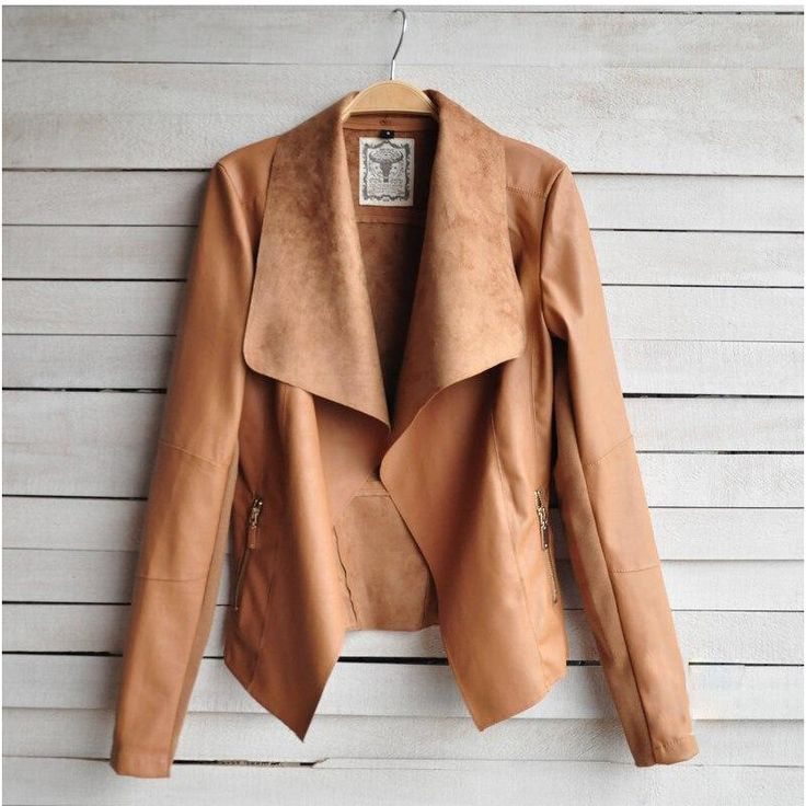 2015 Women Faux Leather Jacket, Big Lapel Collor Black, Brown, Beige Leather Jacket, Free shipping Feminino Jaqueta couro, 4XXL-in Leather & Suede from Women's Clothing & Accessories on Aliexpress.com | Alibaba Group