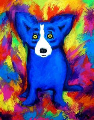 The Blue Dog --- Musings of an Artist's Wife: Blue Dog: The Dark Period, 2006-7 (Paintings Following Katrina)