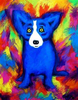 Blue Dog ~ Rainbow