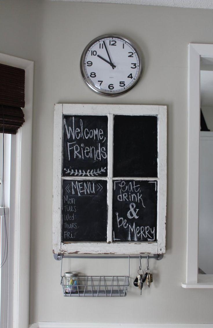 streichen Sie die Fensterscheiben mit schwarzer Tafelfarbe                                                                                                                                                                                 Mehr