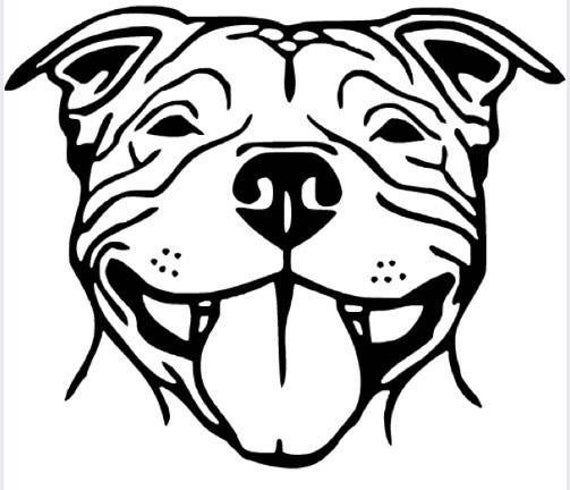 Pitbull Smiling Vinyl Decal Pit Car Sticker Pitt Wall Decor Etsy In 2020 Pitbull Drawing Vinyl Decals Pitbull Art