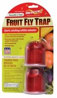 $6.80 (2 PACK) Indoor trap catches fruit flies that congregate and breed near fruit, vegetables and food scraps.  This trap uses a food-based lure and color proven attractive to fruit flies.  Simply add the liquid attractant to the trap and it starts catching fruit flies in minutes.  Each trap comes with a 30-day supply of attractant and is reusable.   Shelf life: Does not expire.