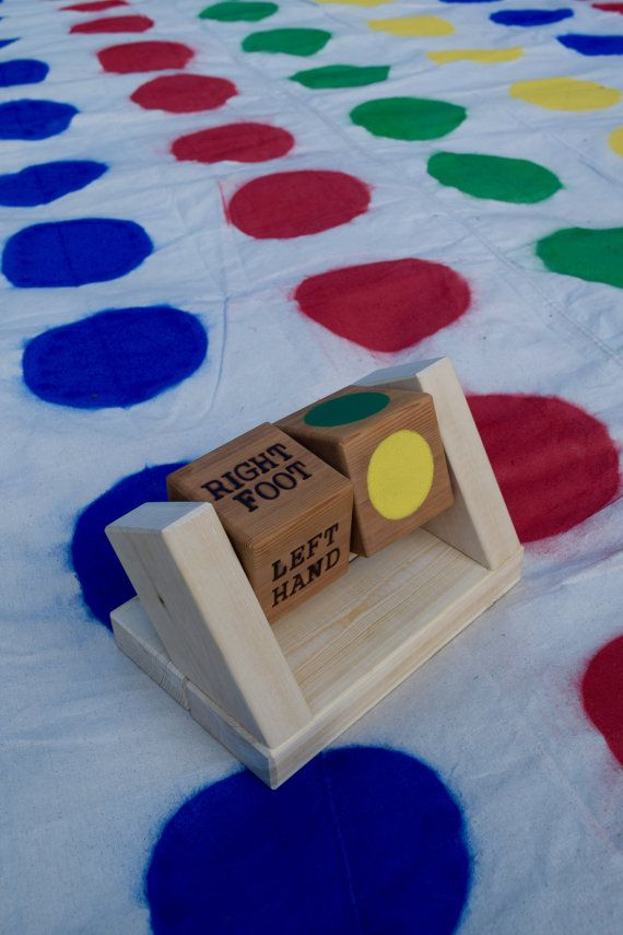 Giant Twister with Rolling Spinner by CalledandChosenGames on Etsy