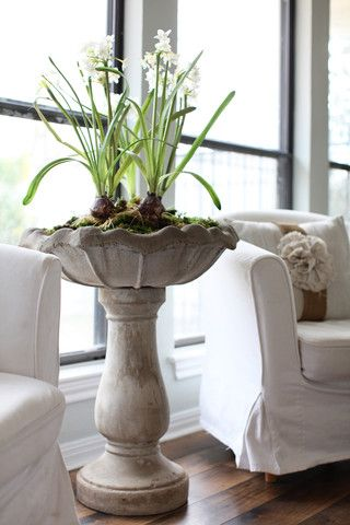 concrete fountain - not just for outside! Joannas Home   The Magnolia Mom