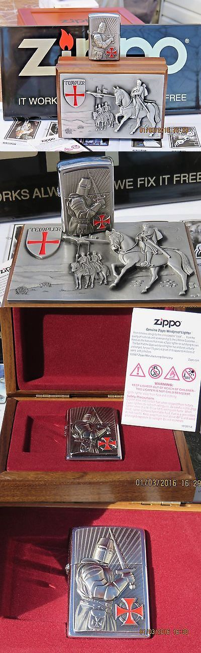 collectibles: Original Zippo Crusader Limited Edition - Rare Collectible In Wooden Box- New BUY IT NOW ONLY: $215.0