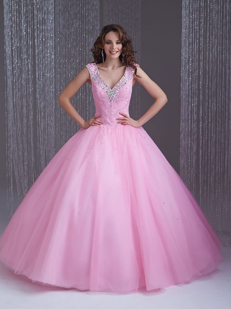 21 best vestidos color coral neon images on Pinterest | Quinceanera ...
