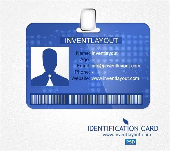 Id Card Template Word Fresh Id Card Templates Word Excel Samples In 2020 Id Card Template Free Business Card Templates Business Card Template Psd