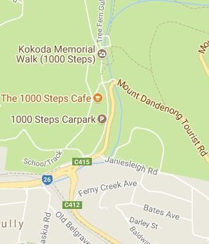 The 1000 Steps is a popular spot in the Dandenong Ranges; boasting a beautiful walking track with adjacent forested areas, bushlands and scenic points.