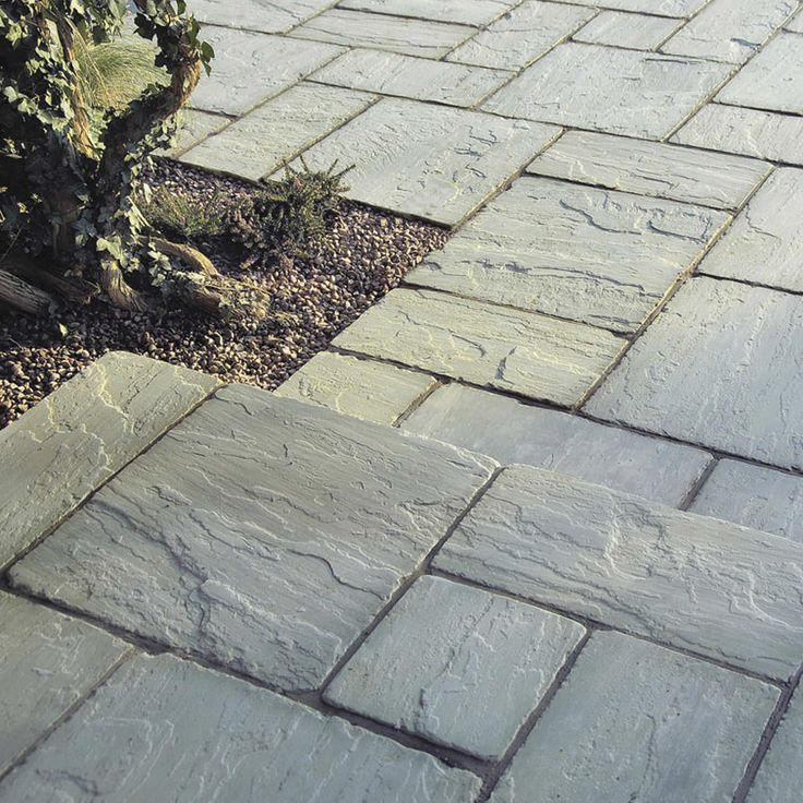Bradstone Antique Natural Sandstone Paving Silver Grey Patio Pack