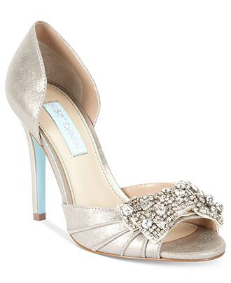 Beau Blue By Betsey Johnson Gown Evening Pumps   Evening U0026 Bridal   Shoes    Macyu0027s