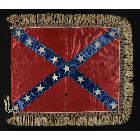 The 15-star Confederate battle flag flag of General Lloyd Tilghman of Maryland & Kentucky [killed at Vicksburg], 1 of only 2 such known flags in this star count, an exquisite example of both historic and graphic importance. The count of 15 stars incorporates all of the slave states, adding the border states of Maryland and Delaware to the 13 others represented on most flags. The stunning, hand-sewn flag of General Tilghman is made entirely of silk, constructed with great care, and easily…