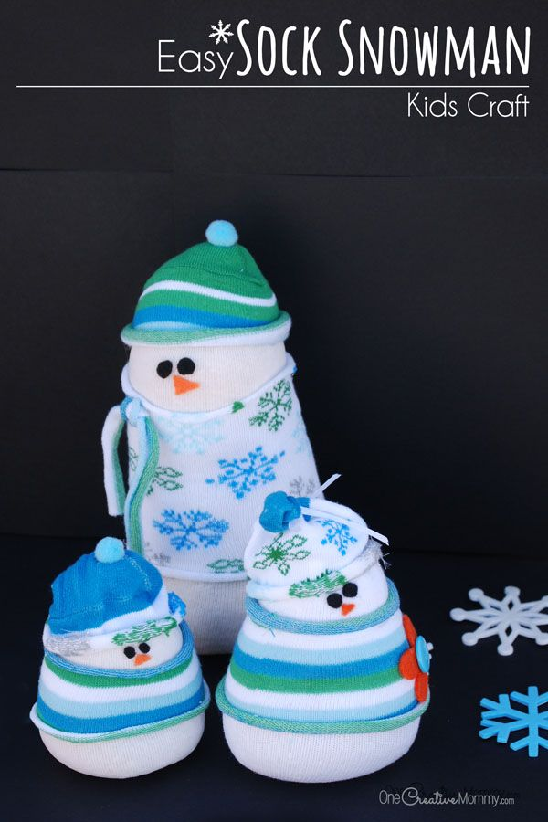 easy kids DIY sock snowman. so cute to try during holiday break!