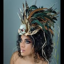 Image result for voodoo priestess headdress                                                                                                                                                      More