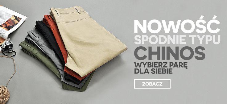 Spodnie typu Chinos Wybierz parę dla siebie: http://dstreet.pl/pol_m_ODZIEZ-MESKA_SPODNIE_Chinosy-211.html