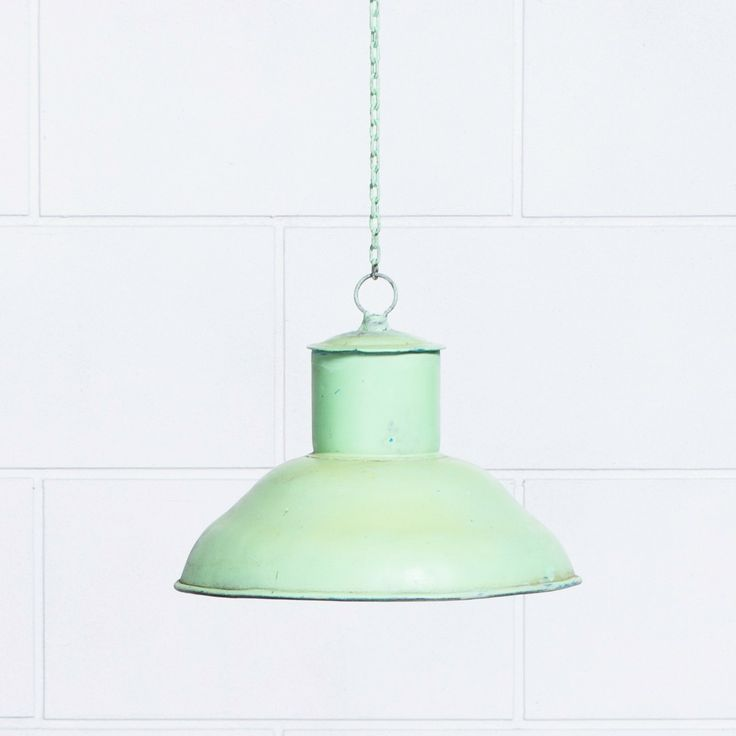 Doug Industrial Light Shade - Green from Retrojan. Also comes in a pearly blue and a red.