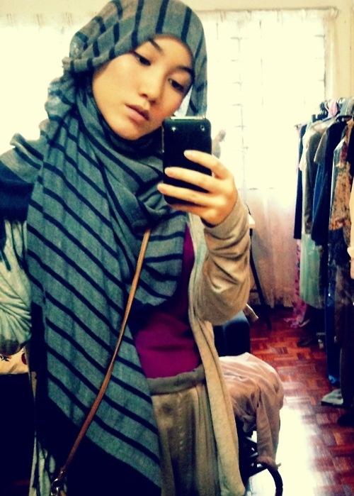 Hana Tajima, designer. Also, a pretty person. Also, awesome hijab-styling.