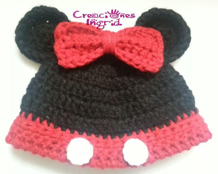 Gorro Minnie / Minnie Crochet Hat