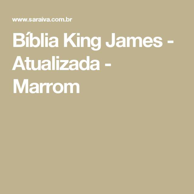 Bíblia King James - Atualizada - Marrom