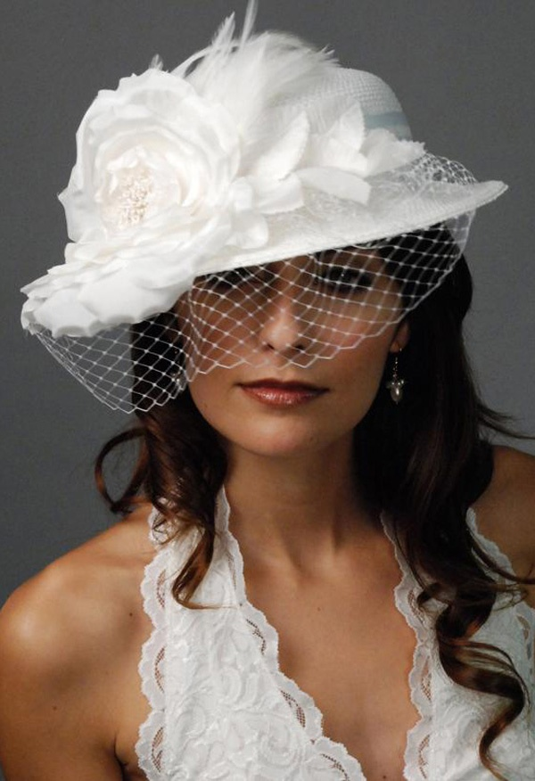 White wedding hat article wedding dresses for older for Dress hats for weddings