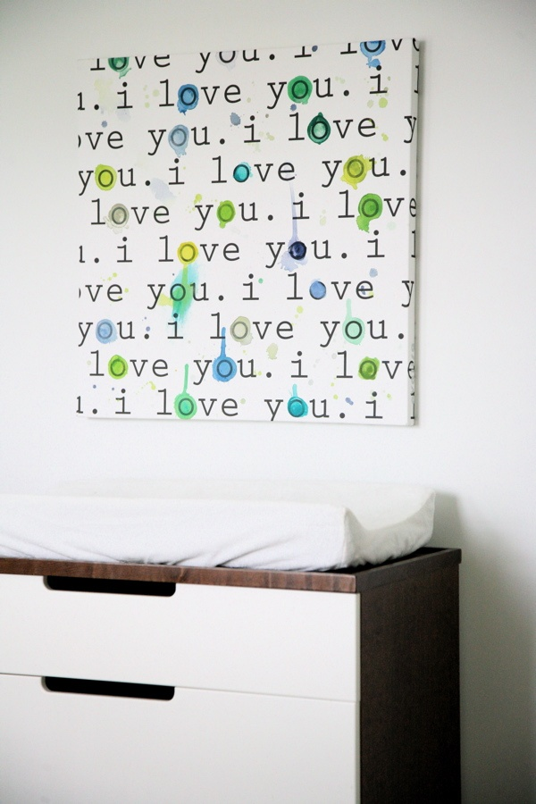 Avalisa.com Stretched Canvas Wall Art    I Love You.    Add uniqueness to your Avalisa Wall Art by customizing your piece with hand paints.