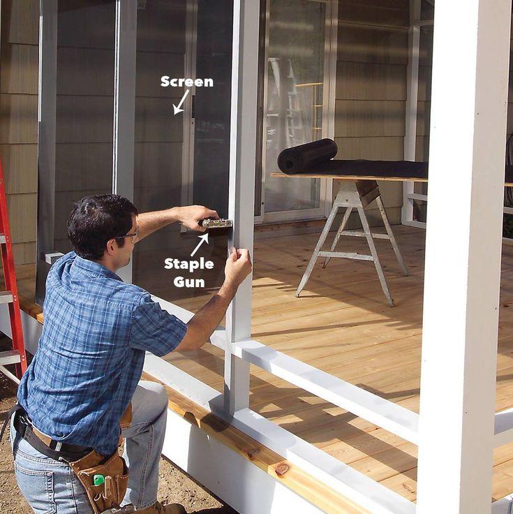 How To Build A Porch Screen Porch Construction Building