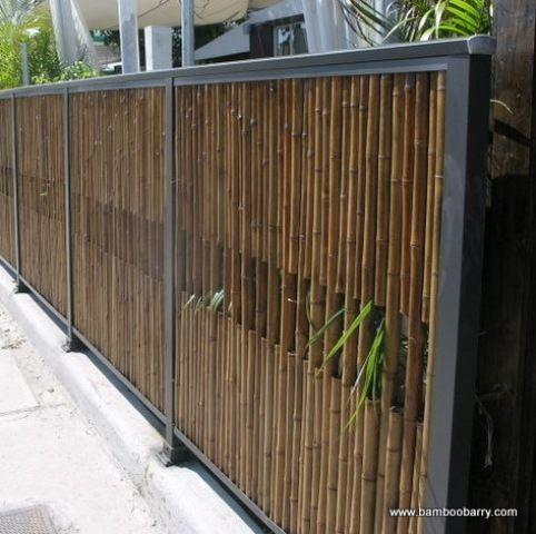 Fence, modern but organic...love it!!