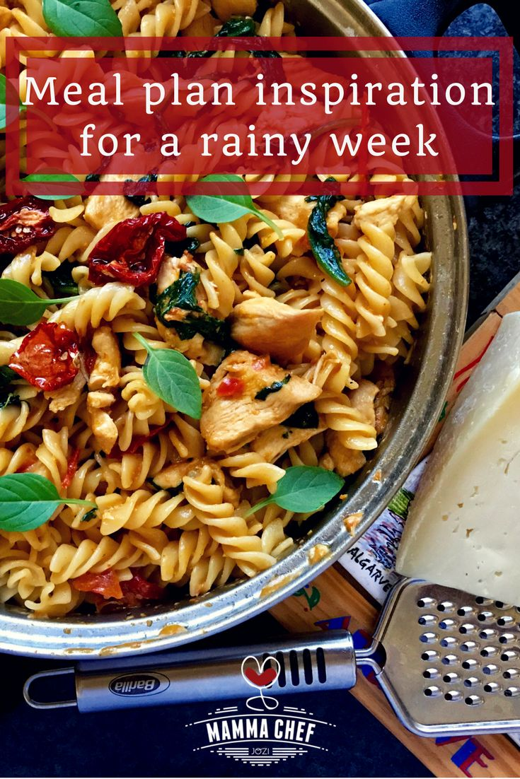 Meal Planning Inspiration for a Rainy Week - when you're looking for easy dinner ideas.