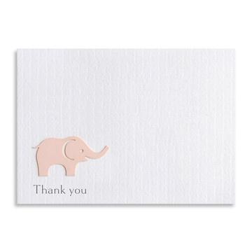 Thank You Die Cut Elephant Cards