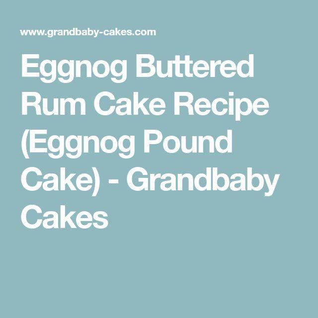 Buttered Rum Cake Eggnog