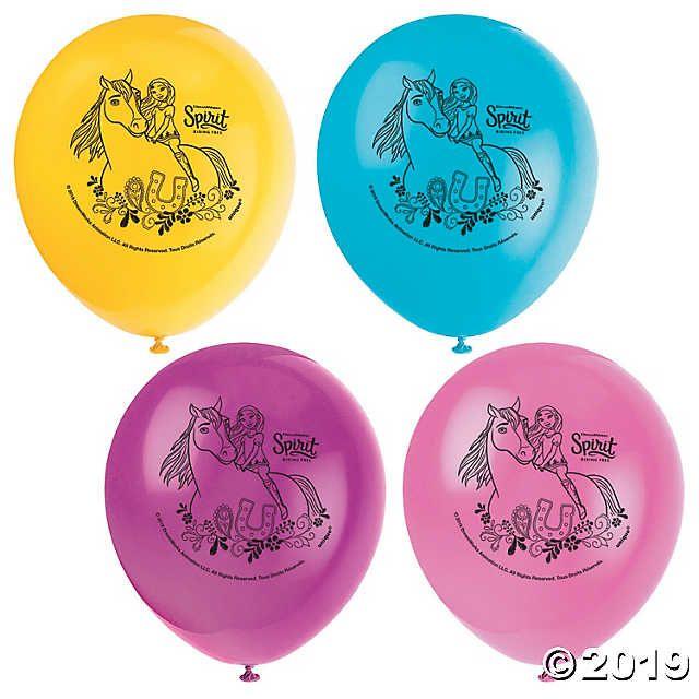 8 SPIRIT Riding Free LATEX BALLOONS ~ Birthday Party Supplies Helium Horses