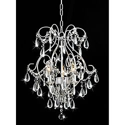 Chandelier Crystals Chand, Sprays Painting, Dining Room, Silver Chandeliers, Girls Room, Painting Silver, Master Closet, Master Bath, Elisa 3 Lights