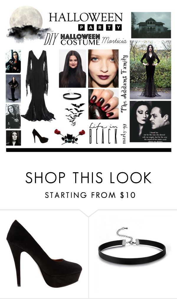 Halloween Party: Morticia! by marty-97 on Polyvore featuring moda, Therapy, Tuttle and Prada