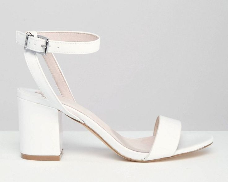 Comfortable Wedding Shoes Drake White Barely There Mid Heel Sandals Faith At ASOS GBP