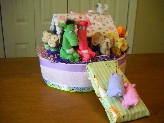 Noahu0027s Ark Diaper Cake By ShelvasDiaperCakes On Etsy, $58.00. Baby Shower  ...