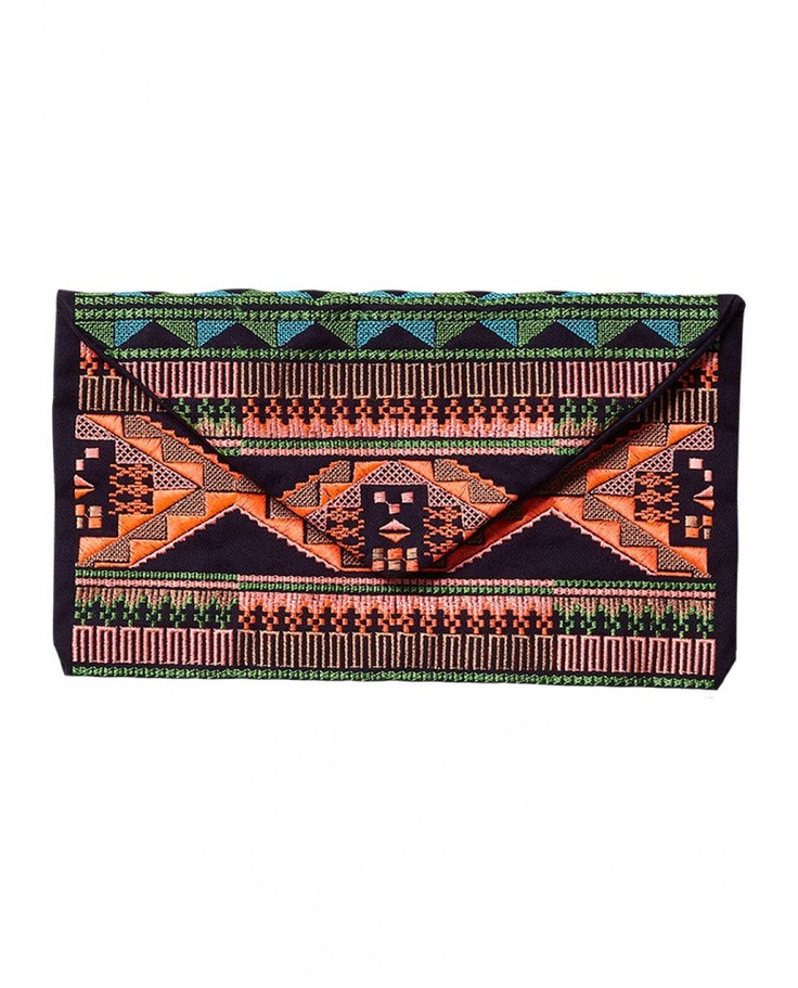 Summer clutch with ikat embroidery - Bags & Handbags - Official Scotch & Soda Online Fashion & Apparel Shops