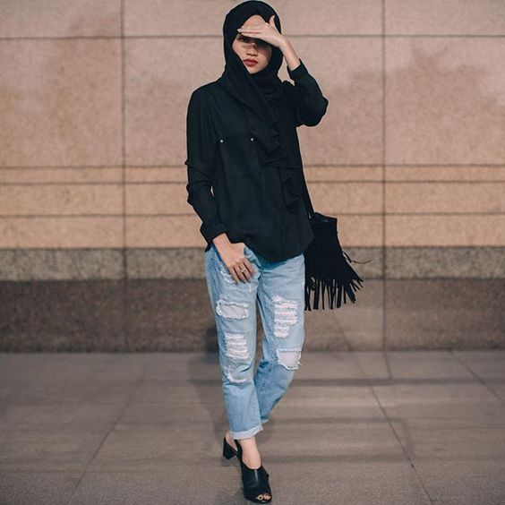 6 Stylish Ways To Wear Jeans With Hijab Fashion - Devilia