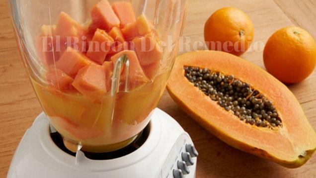 Increíble licuado de avena y papaya 3 en 1: Desinfla tu vientre, te hace perder peso y limpia tu colón