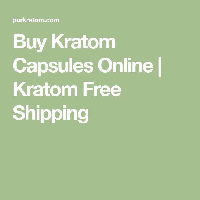 Buy Kratom Capsules Online | Kratom Free Shipping