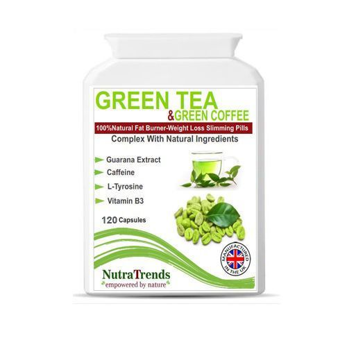 Green CoffeeGreen Tea Extract Complex with Guarana Caffeine & B3  120 Capsules