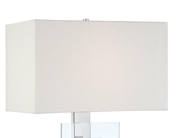 Genevrier 11 H X 10 W Linen Rectangular Lamp Shade Screw On In White Rectangular Lamp Shades Lamp Lamp Shade
