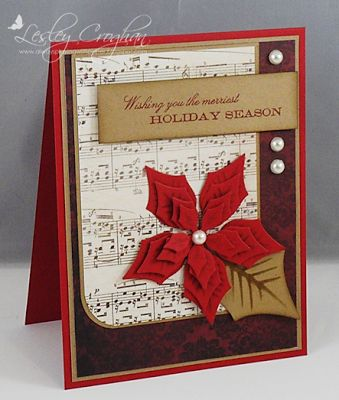 Always Playing with Paper: Mondays Christmas, Merriest Holidays, Cards Challenges, Challenges Merriest, Cards Christmas Poinsettia, Christmas Cards With Music, Merry Mondays, Christmas Cards Wins, Holidays Seasons