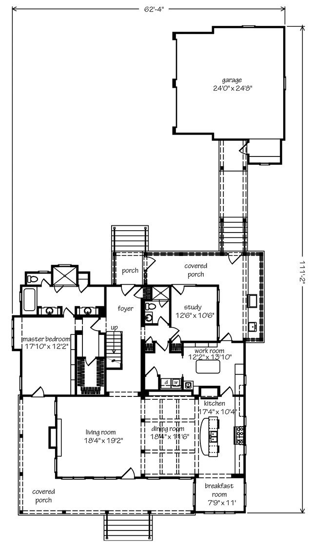 Sl 1408 F1 Porch House Plans Southern Living House Plans Southern House Plans