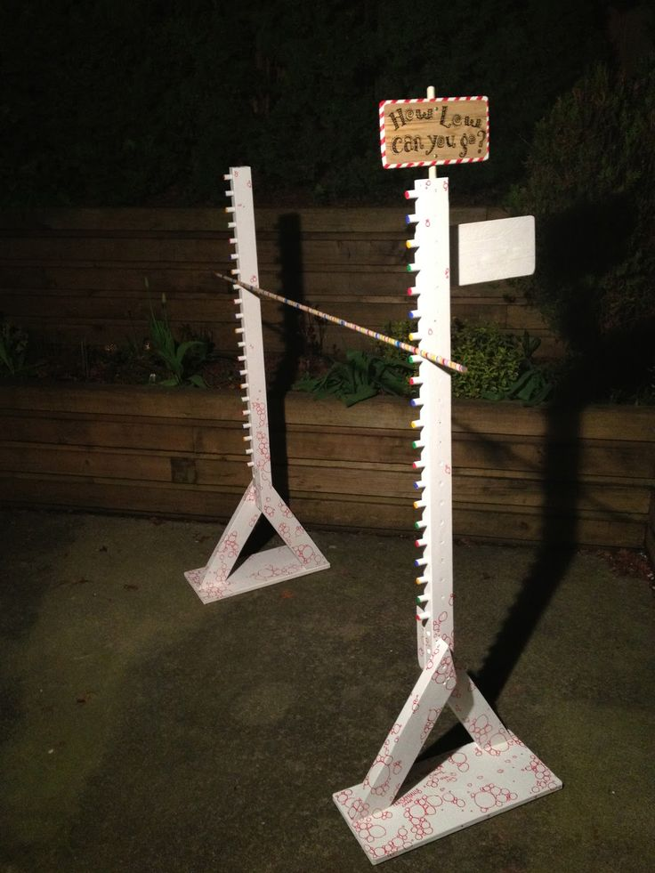 Build a limbo sticks game | EDIT: Stick is finished off with some colourful wrapping paper. The ...