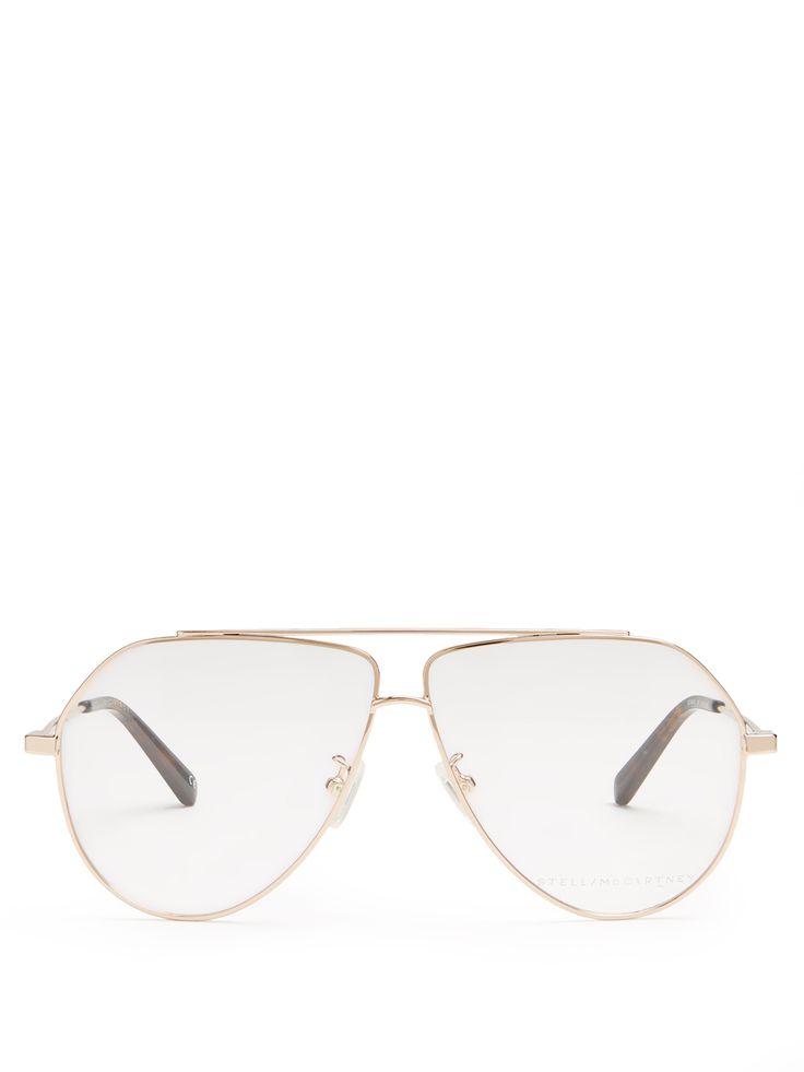 Click here to buy Stella McCartney Oversized aviator glasses at MATCHESFASHION.COM