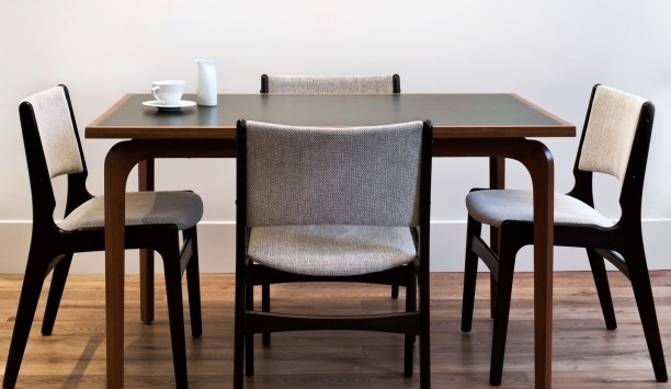 MC Mod tweed dining chairs