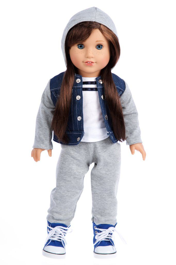 ee4be06bca8 Tomboy - 4 Piece Doll Outfit - Jeans Jacket