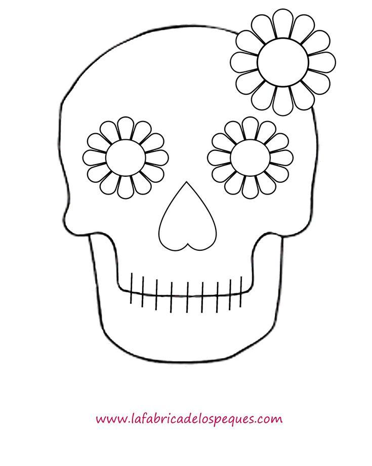 Plantillas e imprimibles gratis para Halloween: calaveras