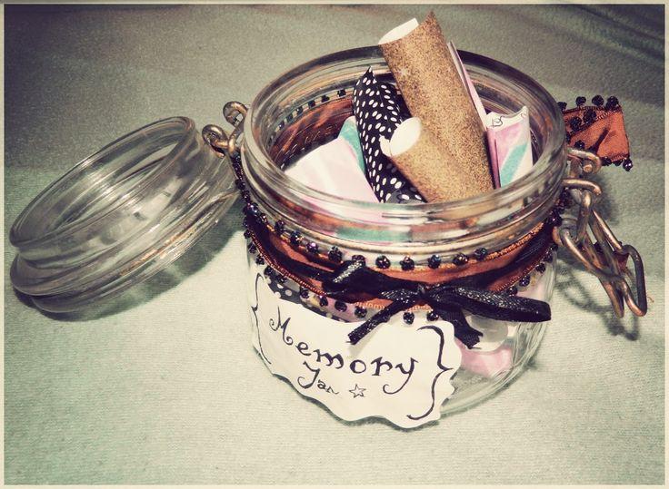 ✄ ✄ DIY - A sweet memory jar