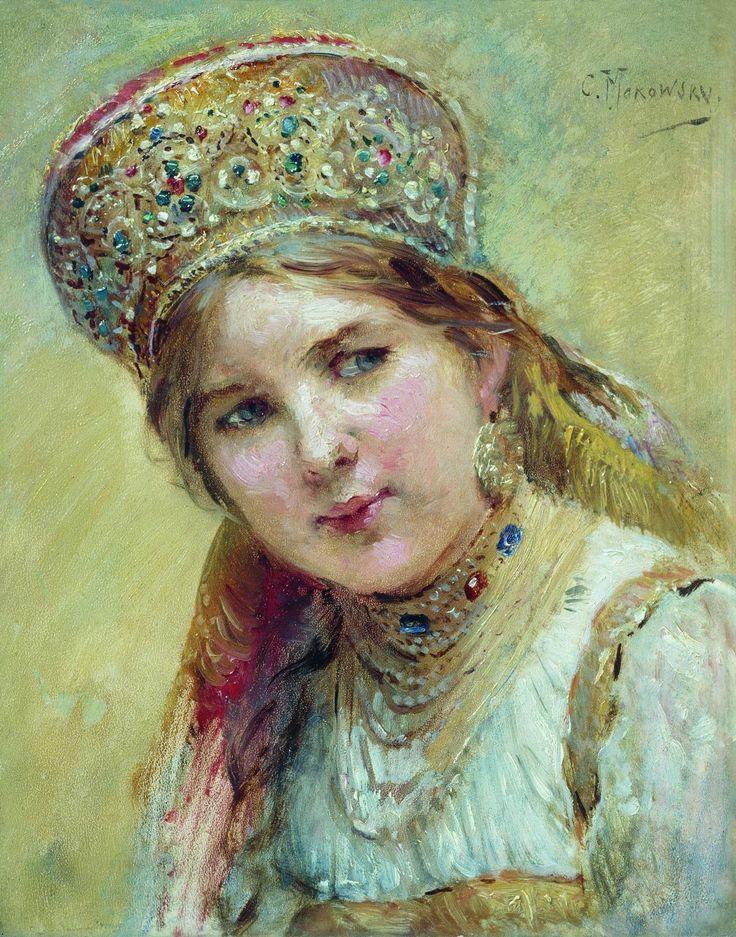 Russische Bauernmädchen