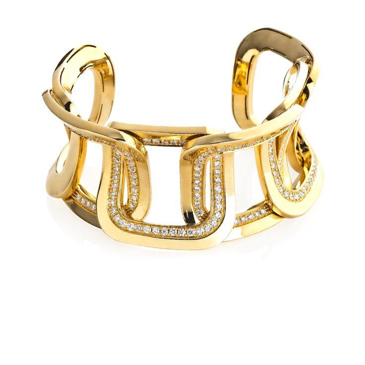 CHIMENTO Diana yellow gold bracelet with diamonds.